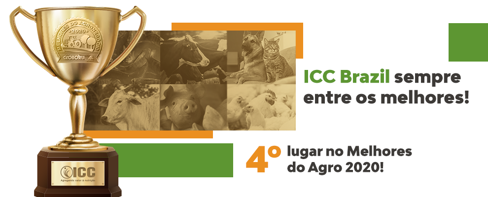 ICC Brazil among the four best companies in the Animal Nutrition sector in Brazil